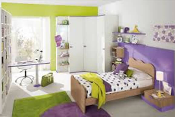 Classic Interiors of Girl bedroom in e city