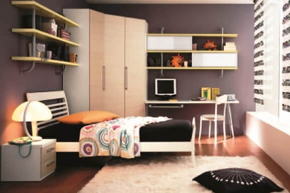 single bedroom Interior Design In Electronic City