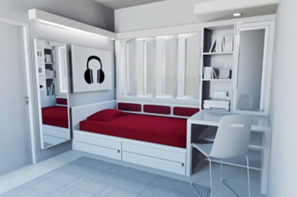 Best single bedroom Interior Electronic City Bangalore